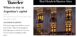 Algodon Mansion Featured in Conde Nast Traveler!